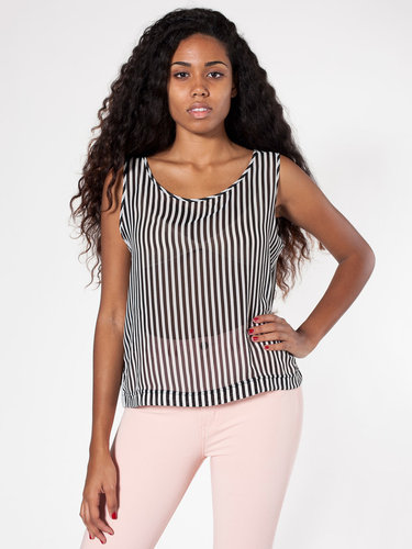 Striped Chiffon Tank