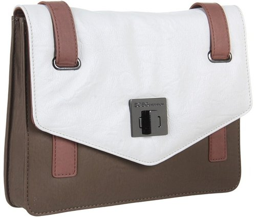 BCBGeneration - Leslie Color Block Clutch (White Combo) - Bags and Luggage