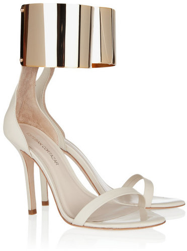 Esteban Cortazar Metal ankle-cuff leather sandals