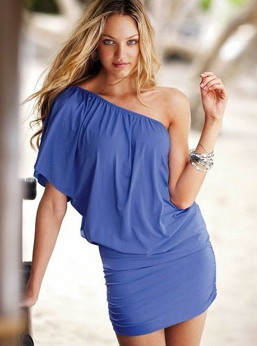 One-shoulder Banded Tee Dress
