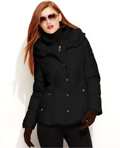 DKNY Jacket, Pillow-Collar Down Puffer