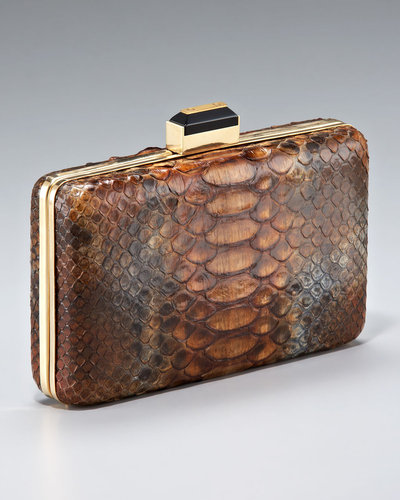 Lanvin Painted Python Minaudiere