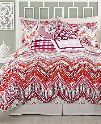Trina Turk Bedding, Chevron Dots Comforter and Duvet Cover Sets