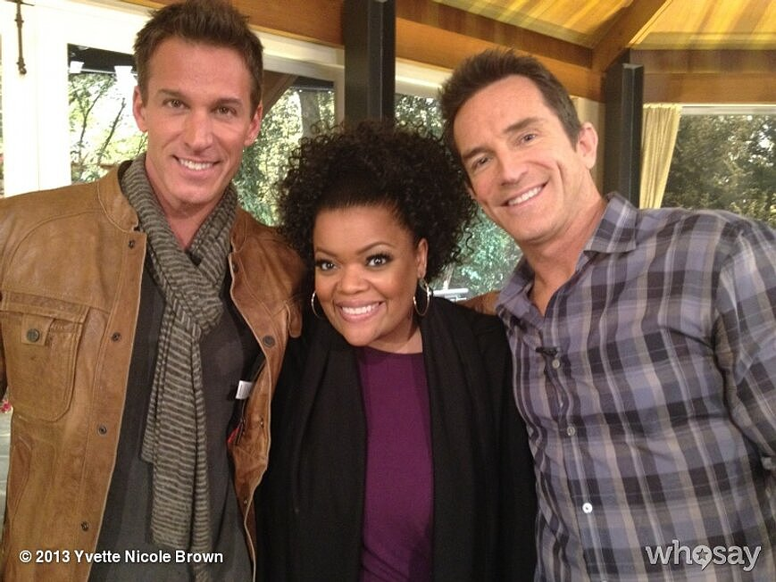 Yvette Nicole Brown snagged a photo with Jeff Probst and Dan Cortese. Source: Yvette Nicole Brown on WhoSay
