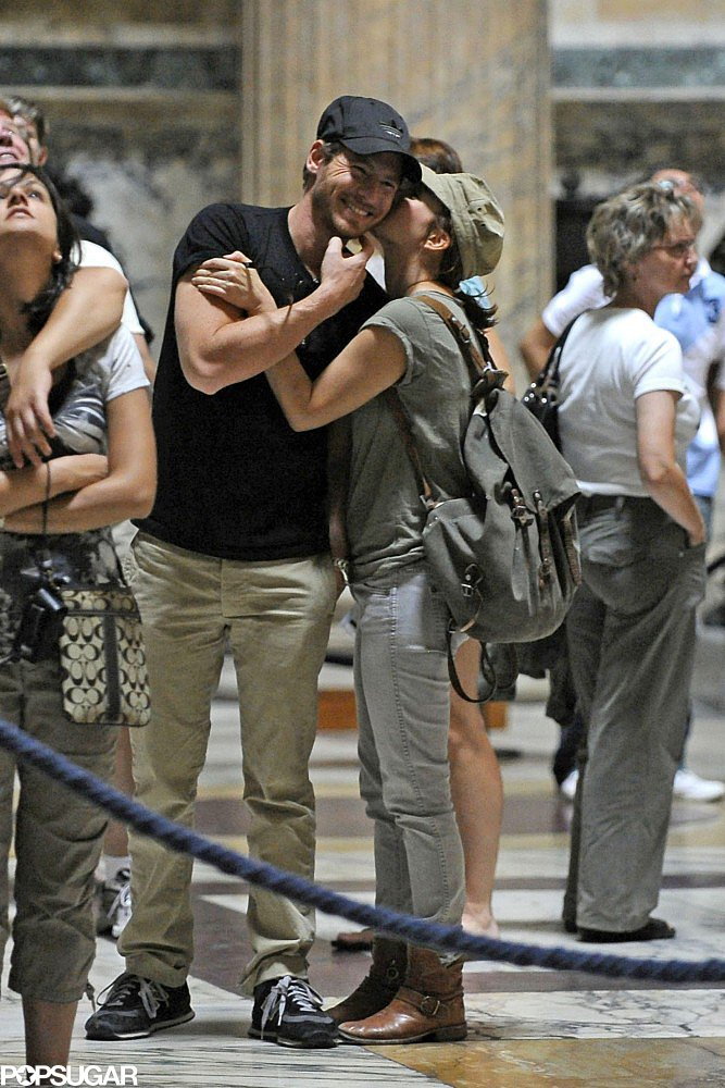 Drew Barrymore and Will Kopelman shared a sweet kiss inside Rome's Pantheon during a September 2011 trip to Italy.