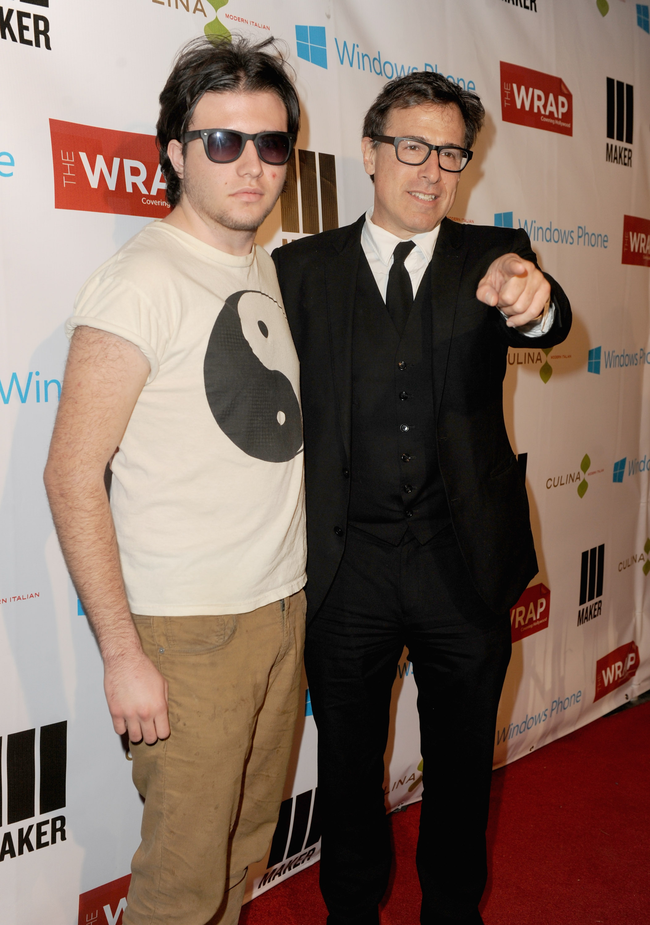 David O. Russell had his son by his side for a pre-Oscar