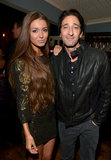 Adrien Brody arrived with Lara Lieto at the Les Misérables event.
