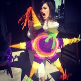 Emmy Rossum picked up a piñata while in Mexico City. Source: Instagram user emmyrossum