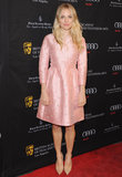 Sienna Miller looked pretty in a pink floral Valentino dress at the BAFTA Awards tea party in Beverly Hills, CA.