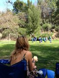 Heidi Klum played soccer mom while attending her sons' game. Source: Twitter user heidiklum