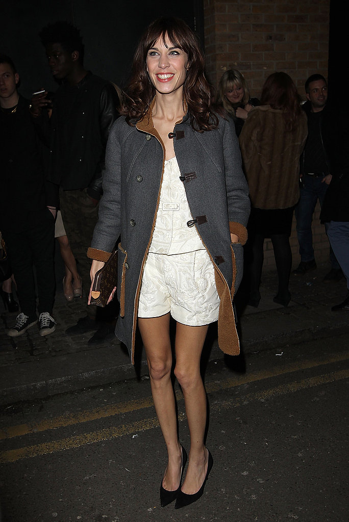 Alexa Chung in Valentino and Jimmy Choo