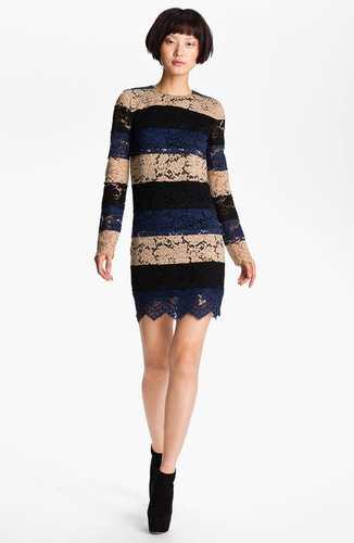 MSGM Tiered Lace Shift Dress