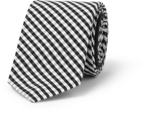 Burberry Prorsum Slim Gingham Check Cotton Tie