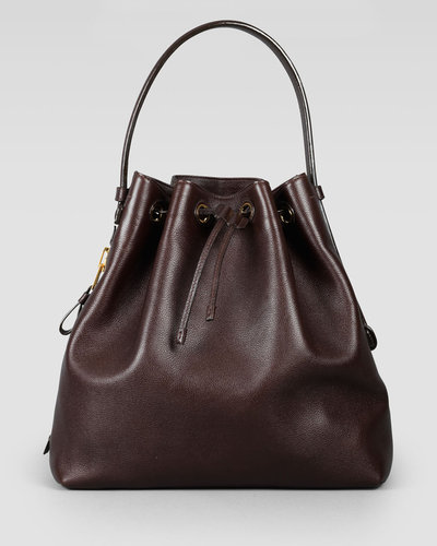 Tom Ford Drawstring-Top Bucket Bag