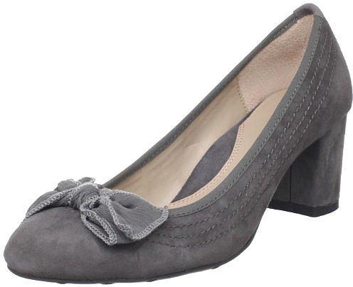 Grey Bow Heels