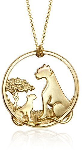 "Alex Woo ""African Cats"" Large 14k Yellow Gold Pendant Necklace , 18"""
