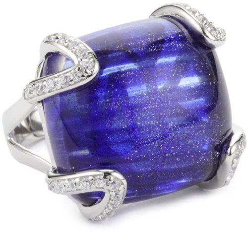 Nicky Hilton &quot;Bryant Park&quot; Sterling Silver Royal Blue Stone Ring, Size 7