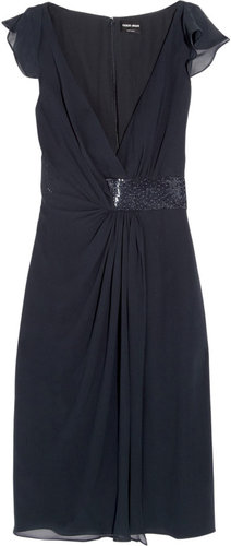 Giorgio Armani Beaded silk dress