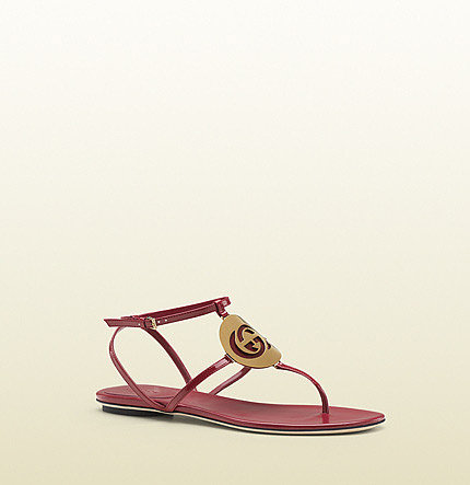 new GG cage interlocking G disc flat thong sandal