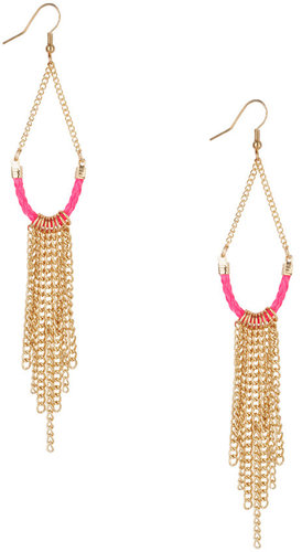 Forever 21 Woven Drop Earrings
