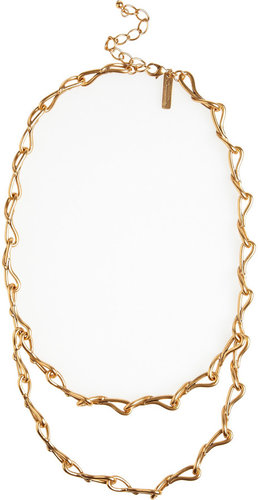 Oscar de la Renta Gold-plated tiered necklace