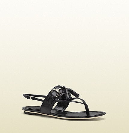 Emily Horsebit And Tassel Flat Thong Sandal
