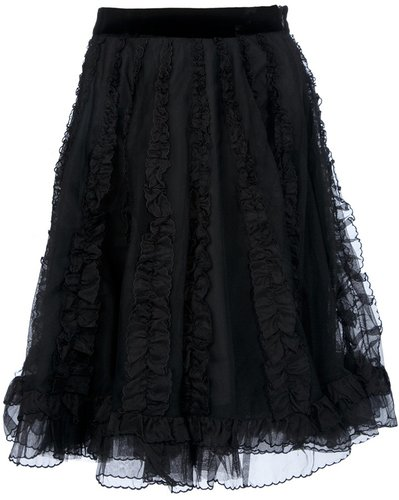 Red Valentino ruffle full skirt