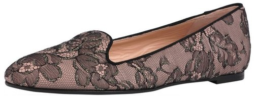 Valentino Lace Smoking Flat