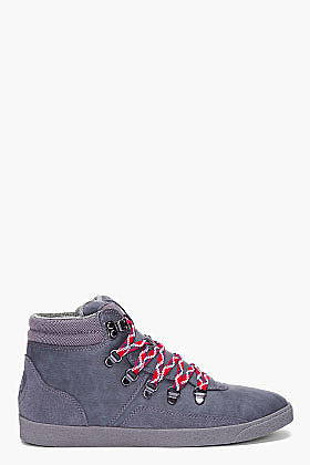DIESEL Grey Fastner II Sneakers