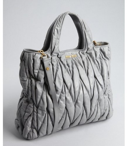 Miu cloud quilted leather convertible tote