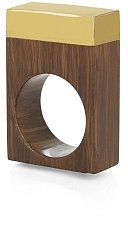 Square Wood And Lucite Ring