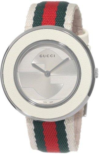 Gucci Women's YA129411 U-Play Medium White Nylon Watch