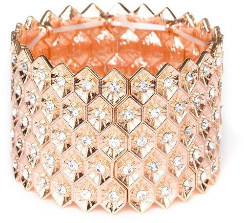 Rose Gold Honeycomb Cuff
