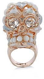 Alexander McQueen Freshwater pearl skull ring