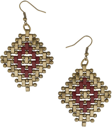 Scandi Woven Drop Earrings