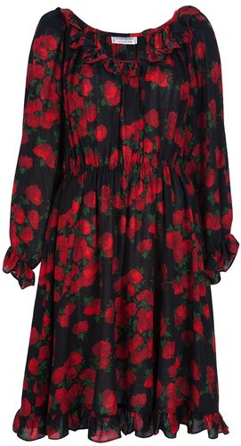 Yves Saint Laurent Vintage rose print dress