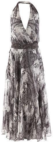 Haute Hippie Silk feather dress