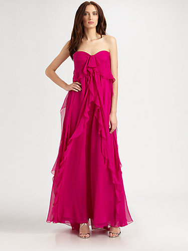 Badgley Mischka Silk Chiffon Gown