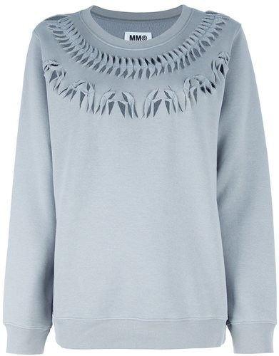Mm6 By Maison Martin Margiela Cut-Out Sweatshirt