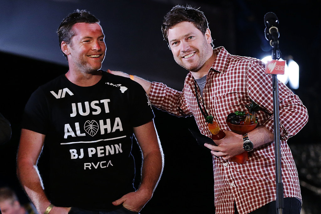 Nicholas Clifford (right) was smiling big at Tropfest in Sydney on February 17, with his film We've All Been There winning Best Short Film at the festival. Tropfest alum Sam Worthington presented him with the award.