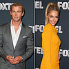 Chris Hemsworth and Jennifer Hawkins at Foxtel 2013 Launch