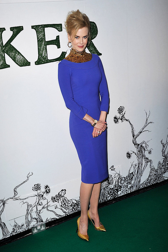 Nicole Kidman was looking polished and regal in royal blue at a special screening of her new film, Stoker on February 17.