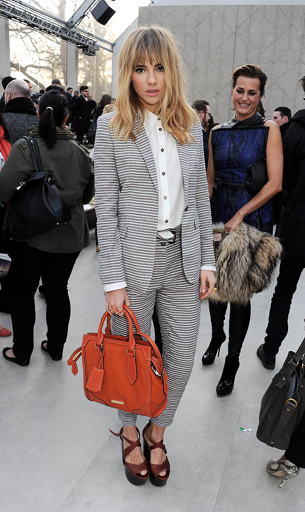 Suki Waterhouse at the Burberry Fall 2013 show in London.