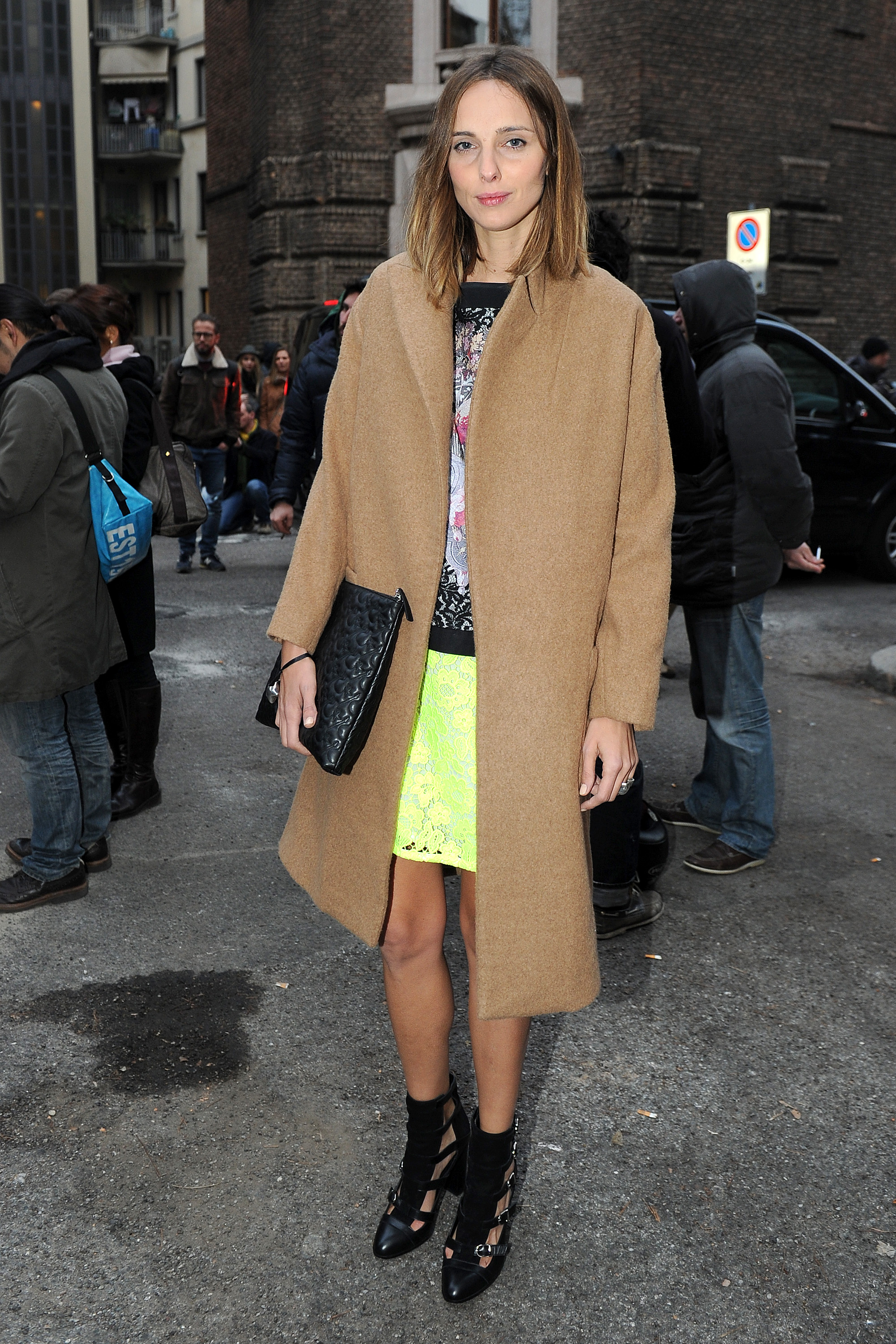 Candela Novembre at the Alberta Ferretti Fall 2013 show in Milan.