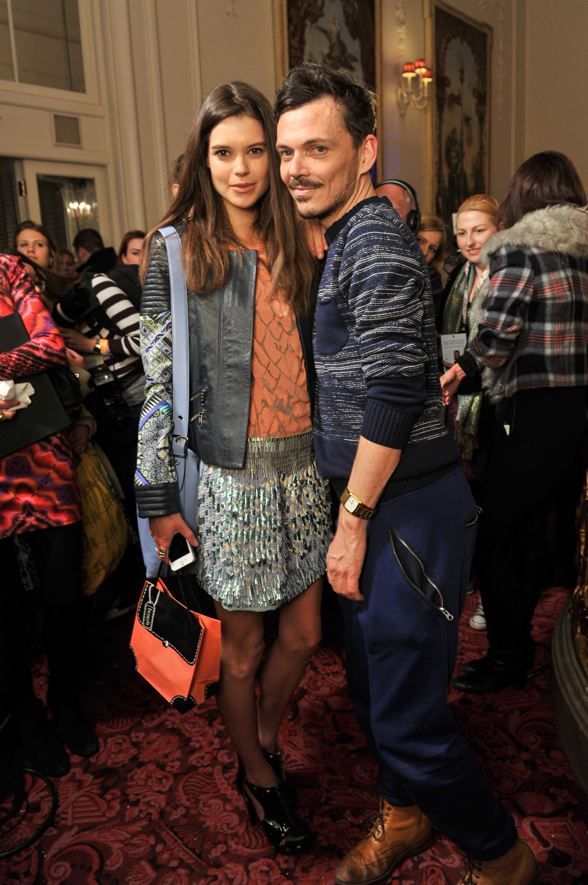 Sarah Ann Macklin and Matthew Williamson at the Matthew Williamson Fall 2013 show in London.