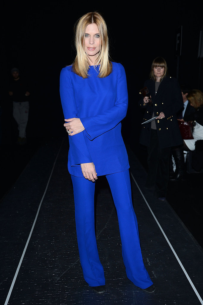 Filippa Lagerbäck at the Alberta Ferretti Fall 2013 show in Milan.