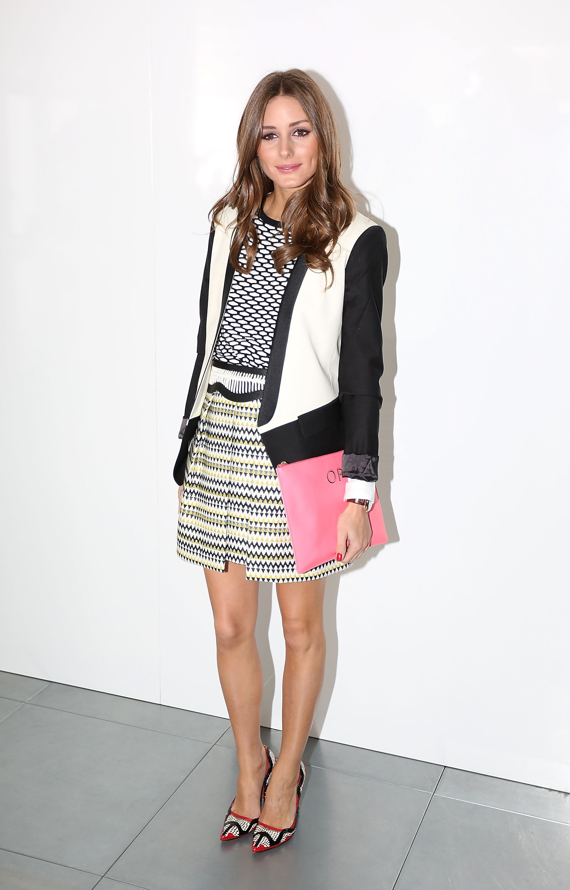 Olivia Palermo at the Preen by Thornton Bregazzi Fall 2013 show in London.