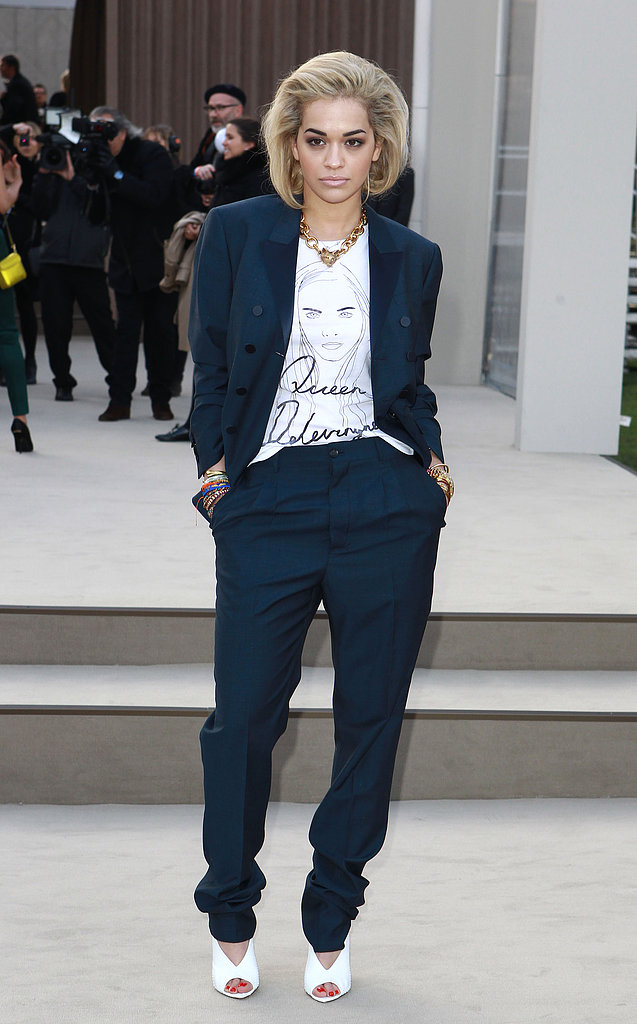 Rita Ora at the Burberry Fall 2013 show in London.