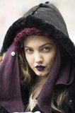 We can't get over how cool this matching purple lipstick looked on Lindsey Wixson. Source: Le 21ème | Adam Katz Sinding
