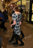 Kate Bosworth and Michael Polish left LAX arm in arm.